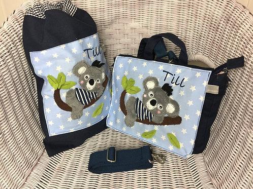Kindergartenrucksack + Turnbeutel *Koala* KTS0230
