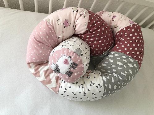 Kopie von Bettschlange/ Nestchen Traum in zart rosa *Patchwork*