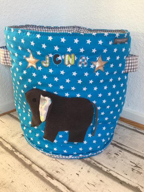 Spielzeugtasche/ Spielzeugtonne *Elefant*