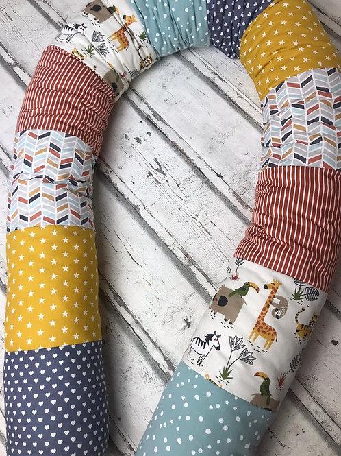 Bettschlange/Lagerungshilfe/Stillkissen in Pastell Farben *Patchwork*