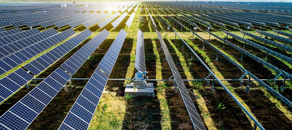 New energy solar energy in sunny day.jpg