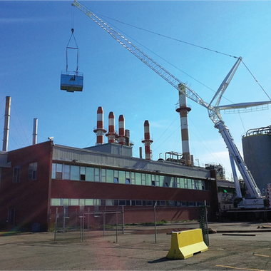 Cooling Tower Lift with Crane