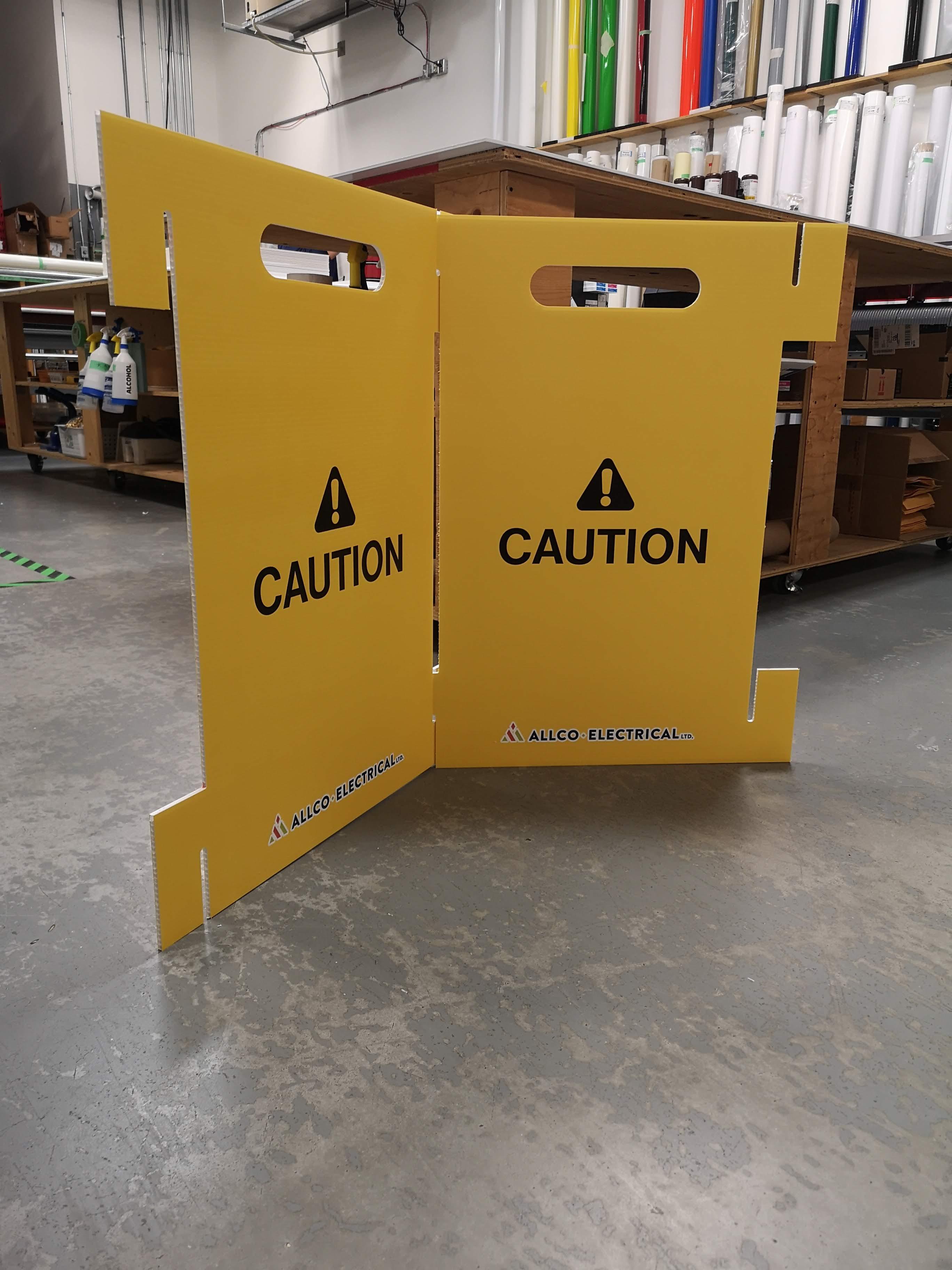 Custom floor barricades