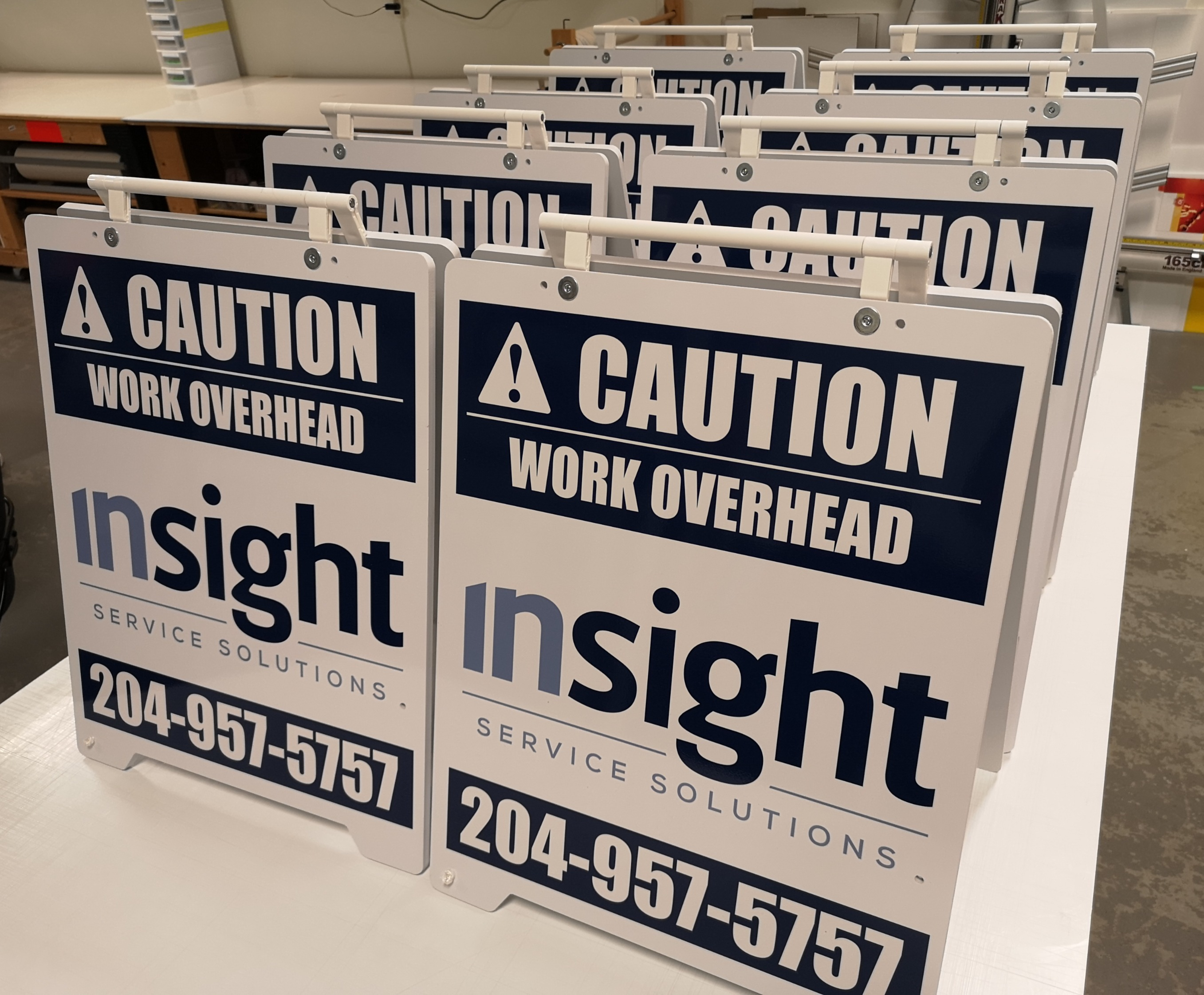 Multiple PVC A-Frame signs
