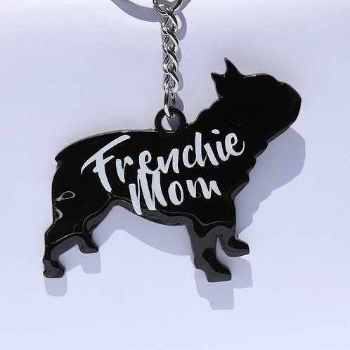 Frenchie Mom Keychain