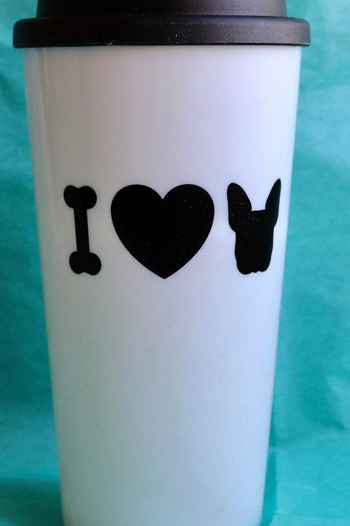 I Love French Bulldogs Coffee Travel Mug