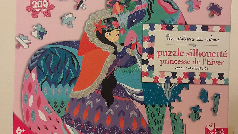 """Les ateliers du calme : Puzzle silhouetté """"Princesse de l'hiver"""""""
