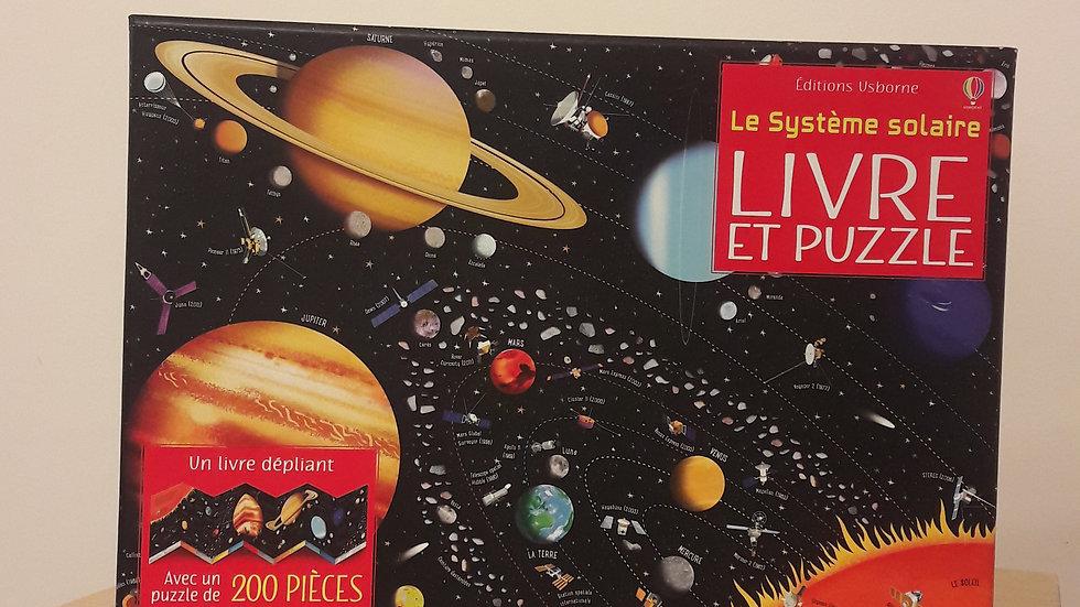 """Livre et puzzle """"Le système solaire"""""""