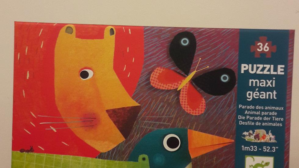 """Puzzle maxi géant """"Parade des animaux"""""""