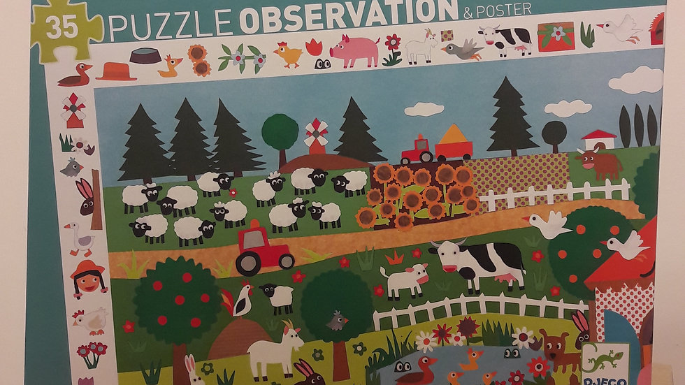 """Puzzle d'observation """"La ferme"""""""