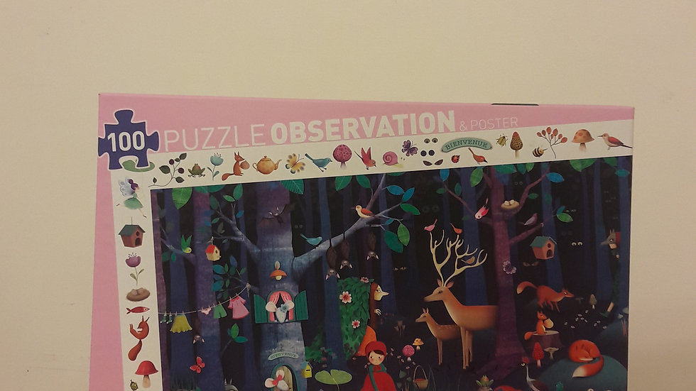 "Puzzle observation : ""Forêt enchantée"""