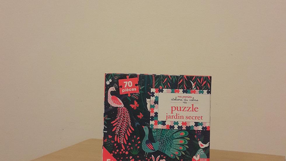 """Mes premiers ateliers du calme : Puzzle fluo """"Jardin secret"""""""
