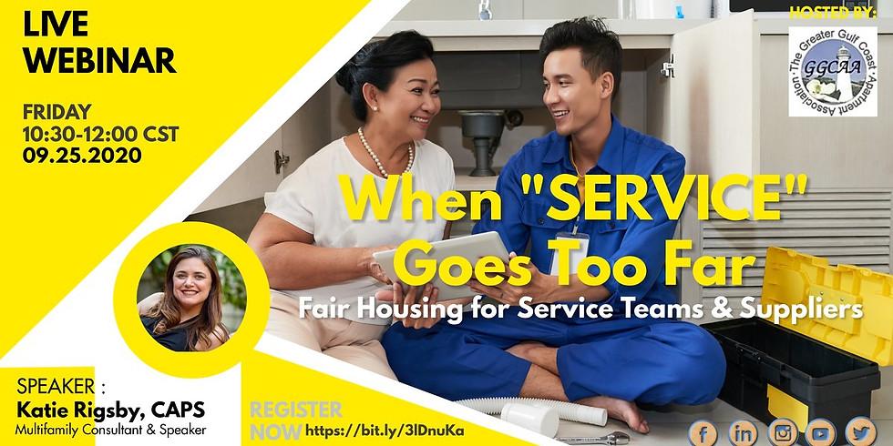 "When ""Service"" Goes Too Far: A Crash Course In Fair Housing Service Discrimination"
