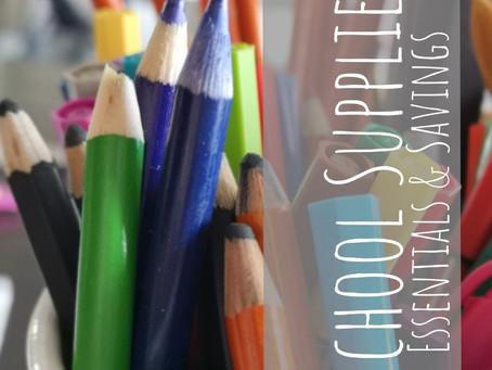 School Supplies: Essentials & Savings