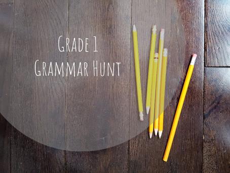 Grade 1 Grammar Hunt