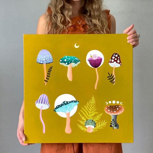 'Mushroom Garden' 20X20