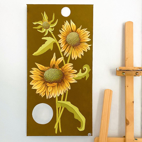 'August's Flowers' 12x24