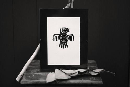 """Linogravure """"Condor Aztèque"""""""