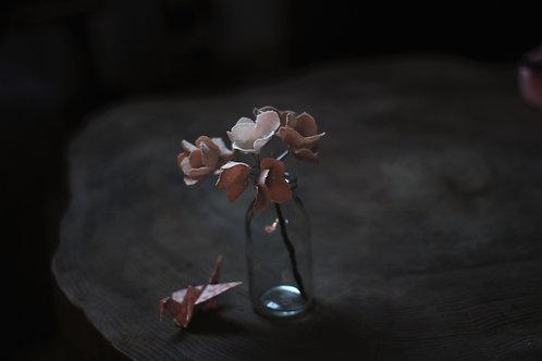Bouquet de fleurs en lin