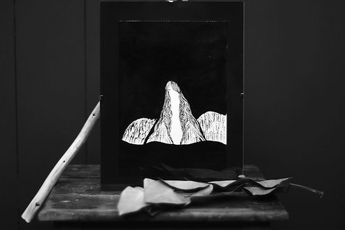 "Illustration  ""Le silence"""
