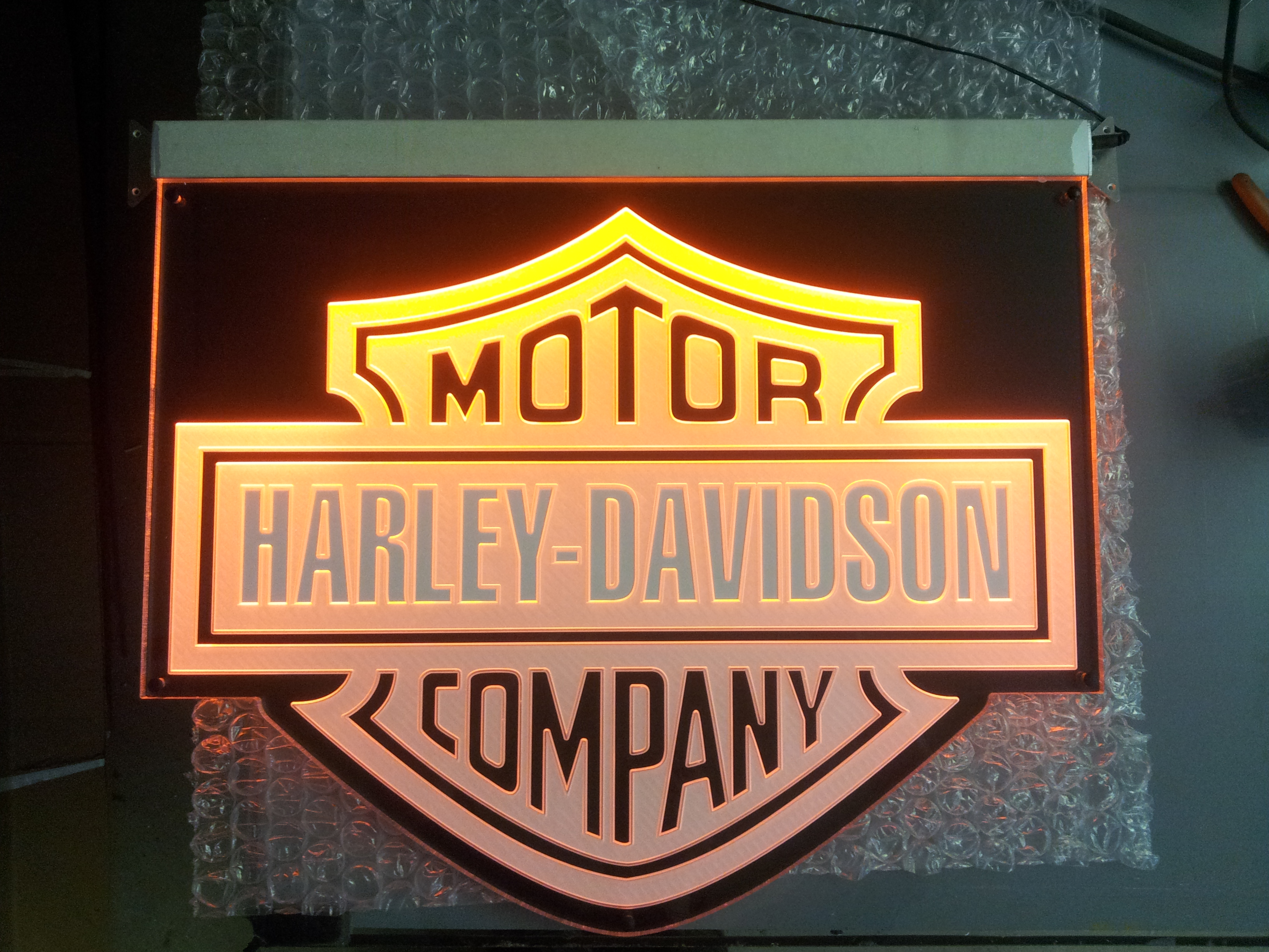 Harley Davidson Edgelit Sign