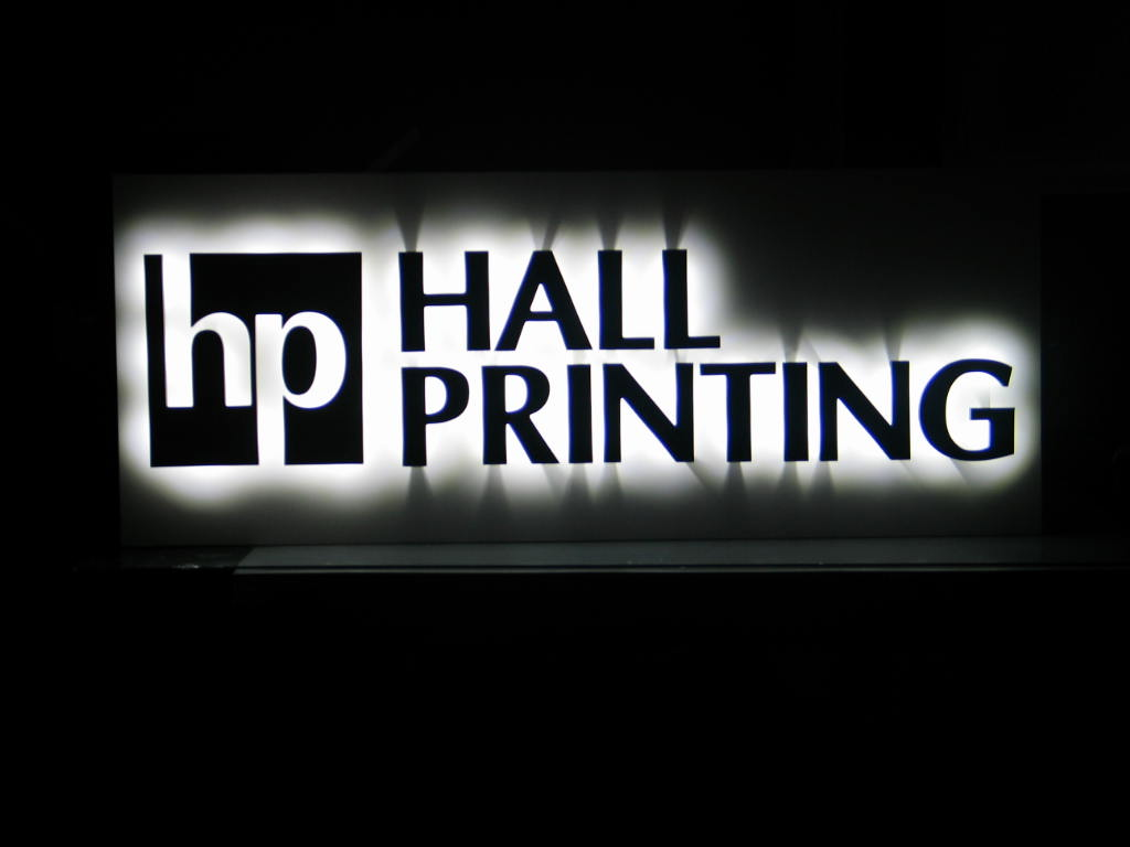 Hall Printing Halo Sign
