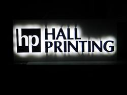 Hall Printing Halo Sign