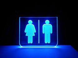 Bathroom Edgelit Sign
