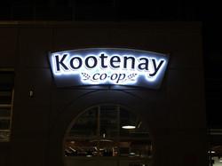 Kootenay Co-op Halo sign