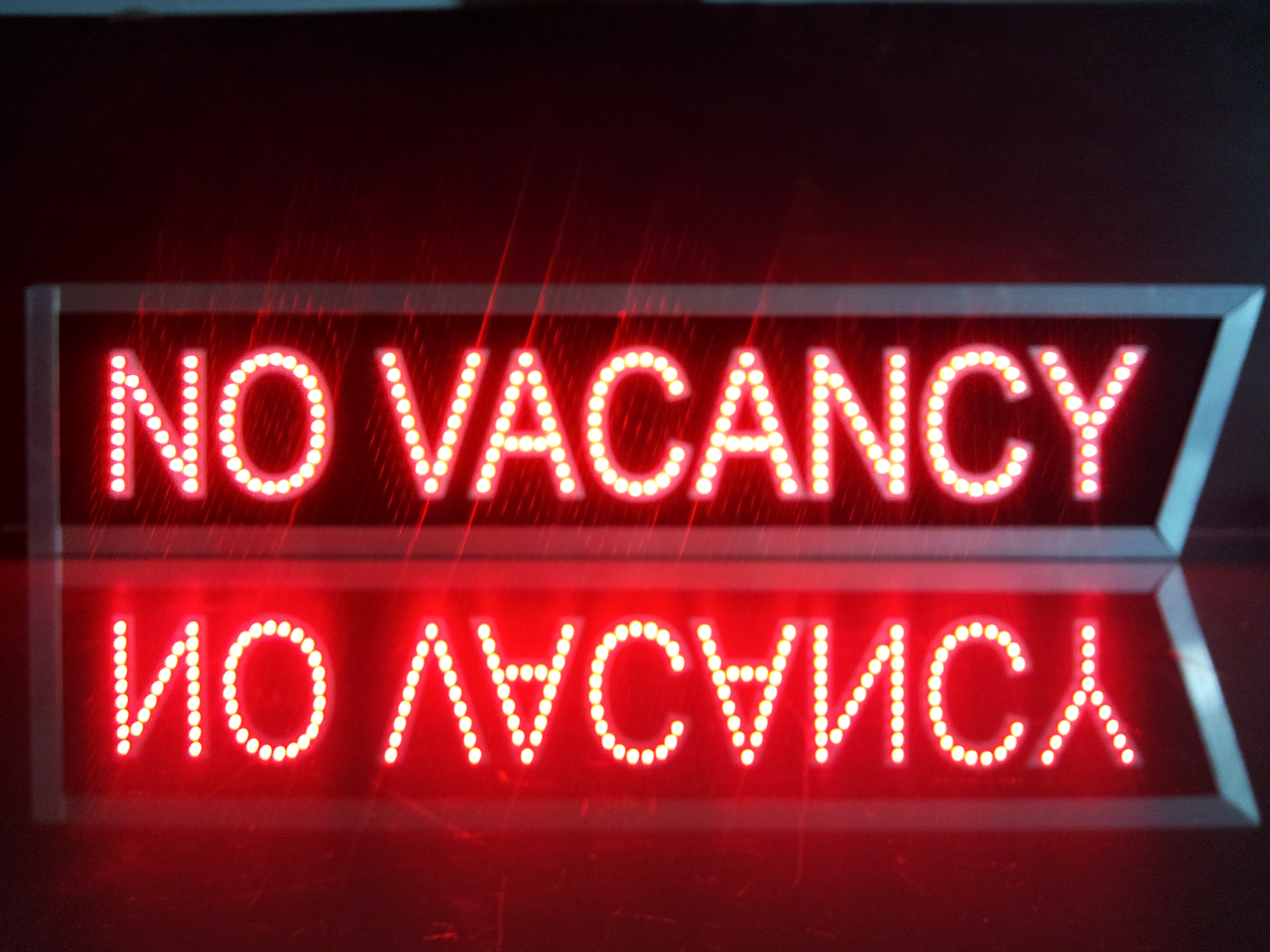 No Vacancy LED sign Indoor / outdoor