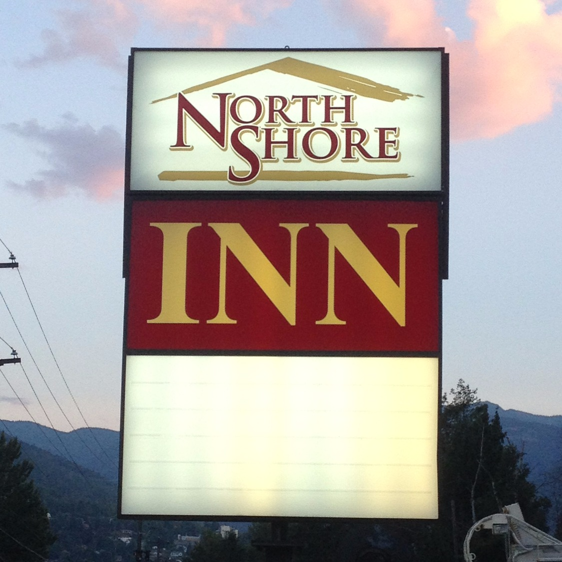 North Shore Inn Backlit sign