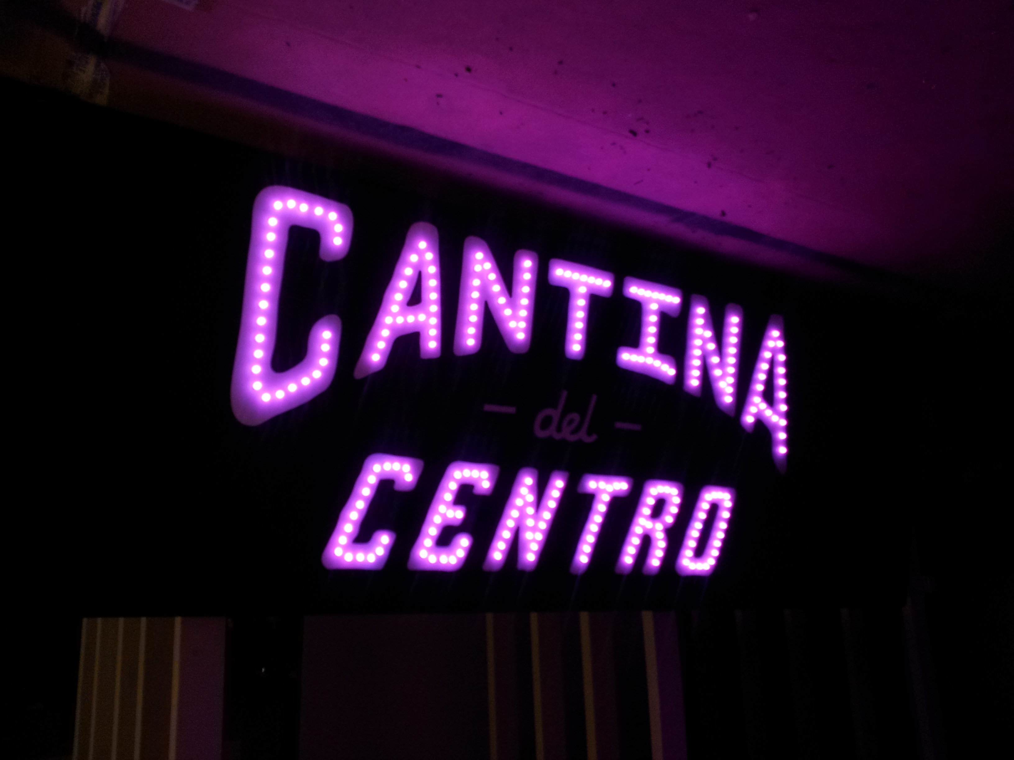 Cantina color changing LED sign