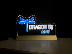 Dragonfly Cafe Edgelit Sign