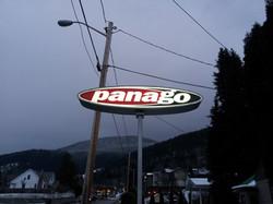 Panago backlit pylon