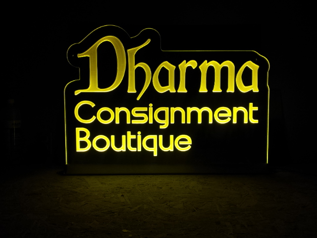Dharma Edgelit Sign