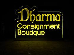 Dharma Edgelit Sign