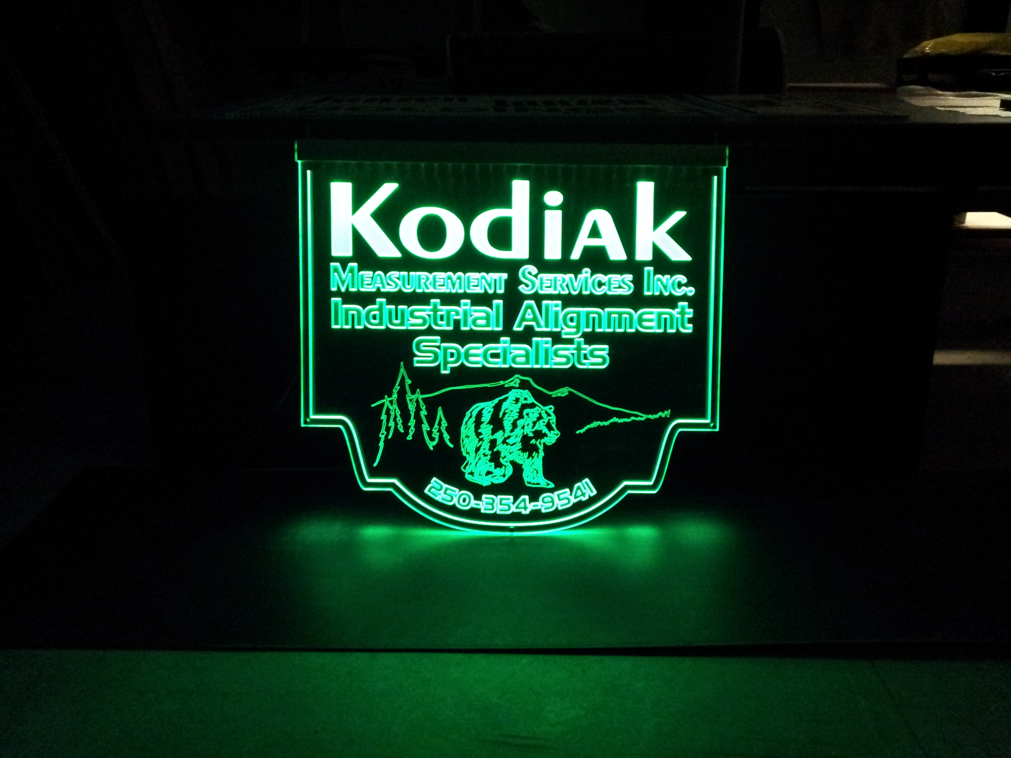 Kodiak Edgelit Sign