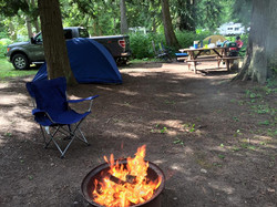 Fire-pit at campsite