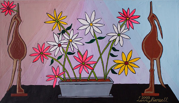 LarryPearsall_(FlowerPotinfrontofGradati
