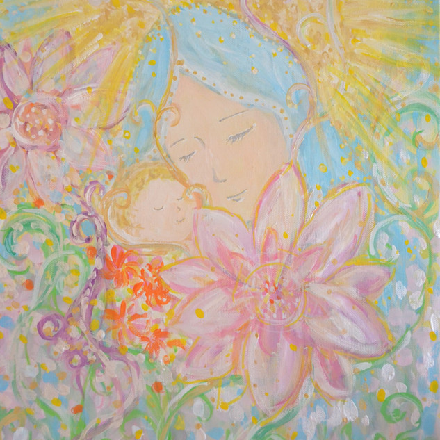 子を抱く聖母マリア