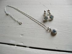 meme's Flower Necklace&Earrings