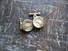 cuff links -Gold Ripple-