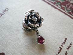Ruby's rose brooch