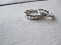 2014.06 Haute couture Marriage Ring -drop of water on leaf-