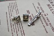 Tie pin, cuff links set-下り藤-