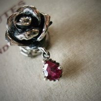 Ruby's rose brooch