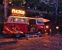 Der schöne Retro-Fotobulli können auf Messen, Hochzeiten Bilder geschossen werden.