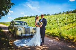Hochzeitsauto Weinberge