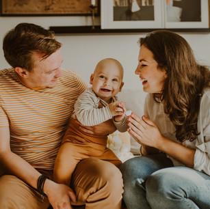 Domowa sesja rodzinna | Ignaś