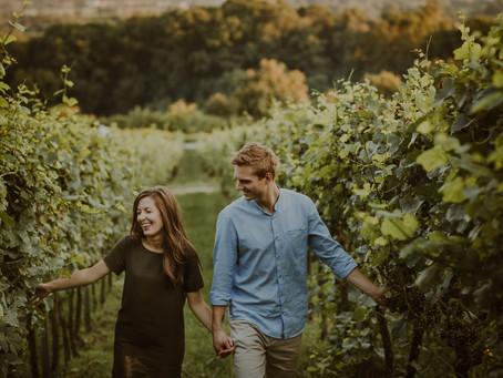 Plener narzeczeński w krakowskiej winnicy | Winnica Srebrna Góra